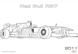 Coloring Pages Red Bull Rb Formula Racing Car Page Free Incredible