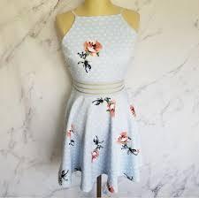 City Studio Dress Size Chart Nwt City Studio Polka Dots Floral Dress Nwt