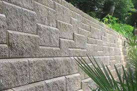 cinder block garden wall. Cinder Block Retaining Wall With Sutaible Stacked Cement Garden A