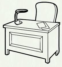 office desk clipart black and white.  Clipart Astounding Null Black Wood Outdoor Rocking Chair To Office Desk Clipart And White S