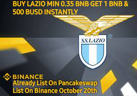 """𝗦.𝗦.𝗟𝗮𝘇𝗶𝗼 𝗙𝗮𝗻 𝗧𝗼𝗸𝗲𝗻 on Twitter: """"Hi,Lazio Fan Token $LAZIO  Listing On PancakeSwap🎉 🔥Binance List 20 October ✓Buy $LAZIO Min 0.35  $BNB Get 1 $BNB & 500 $BUSD Instantly Now https://t.co/YmcKLN7W2V 🔥Smart  Contract"""
