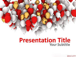 Free Celebration Balloons Powerpoint Template Download