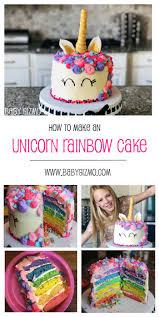 How To Make A Rainbow Unicorn Cake Baby Gizmo