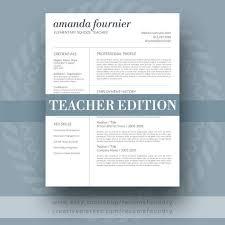 teacher resume template the amanda easy to use resume templates