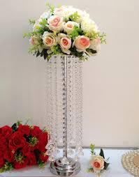 Großhandel 10 Teile Los 216 Zoll Hoch Glas Kristall Perlen Hochzeit Tischdekoration Kronleuchter Blume Stehen Tischdekor Ereignis Party Dekoration