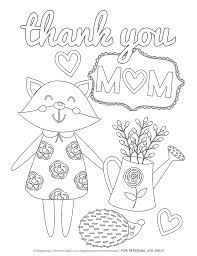 Mother's day coloring pages that parents and teachers can customize and print for kids. Mother S Day Coloring Pages Free Printables Happiness Is Homemade