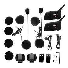 2x <b>EJEAS V6 Pro Bluetooth</b> Motorcycle Interphone Kit for 6 Riders ...