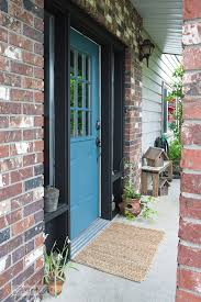 front door repaint in fusion mineral paint s homestead blue with painting tips funkyjunkinteriors
