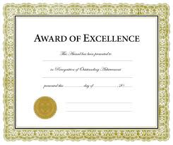 Sample Certificate Award Sample Certificate Of Recognition For Outstanding Students