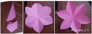 Chart Paper Flower Making Cards Crafts Kids Projects Paper Flowers Party Decorations Tutorial