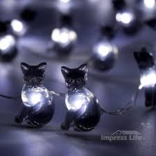 Halloween Cat Lights Details About Black Cat Halloween Lights String By Impress Life 10 Ft Flexible Copper Wire