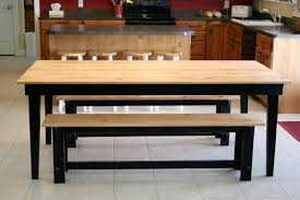 51 Rustic Kitchen Table With Bench Rustic Extension Table With