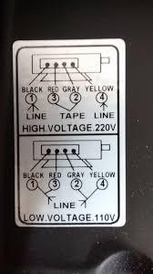110v motor wiring diagram change your idea wiring diagram changing input voltage on motor from 110v to 220v wiring question rh woodworkingtalk com 110v single phase motor wiring diagram 115 volt motor wiring