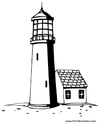 Small Picture Lighthouse Coloring Page