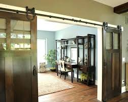 glass barn doors for decorating with home office traditional white wood trim interior sliding doo