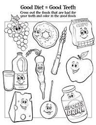 Healthy Foods Coloring Sheet Crafts Weight Loss Camp Help