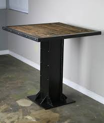 industrial restaurant furniture. This Particular Piece Is An Industrial Bistro Table, Or Dining Table. As You Can See, It Has Been Fashioned After The I-Beams And Rivets Used In Restaurant Furniture