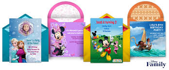 Design And Print Invitations Online Free Free Disney Invitations Disney Online Invitations Punchbowl