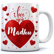 Buy RAMPOSH Love You Madhu Personalized ...