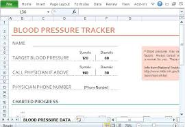 Blood Pressure Tracking Spreadsheet Excel Blood Pressure Chart Create Heart Rate Tracker