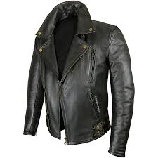 mens elite patrol black leather jacket