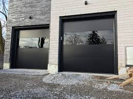 modern garage doors in black