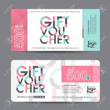 gift certificate for business gift voucher template with colorful pattern cute gift voucher