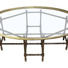 bamboo coffee table vintage faux bamboo coffee table with glass top round