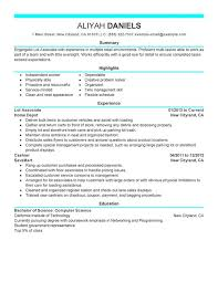 Part Time Lot Associates Resume Examples Created By Pros