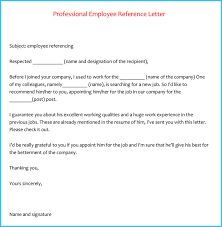 reference letter examples for a job letters of reference for jobs