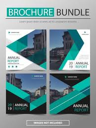 Annual Report Templates Free Download Green Vector Annual Report Leaflet Brochure Flyer Template