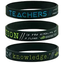 Inspirational Quotes Bracelets New Amazon 48pack Teacher Appreciation Bracelets Silicone