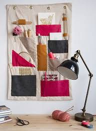 wall hanging organizer office. Make It: A Colorful DIY Hanging Office Organizer   Diy Wall, Fabric Wall Hangings And Storage O