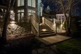 steps lighting. Stone Patio Stair Lighting Steps