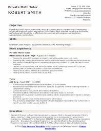 How To Write A Modern Resume Mission Statement Private Math Tutor Resume Samples Qwikresume