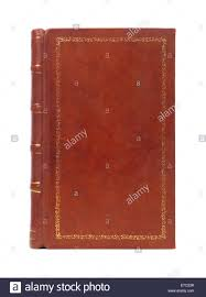 leather bound brown vine book cover texture isolated on white background stock image