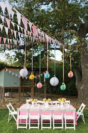 outdoor birthday party decorations