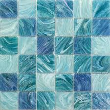 aquatic sky blue 2x2 square glass tile blue tiles54 blue
