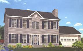 >pennwest homes two story modular home floor plans overview  artist s rendering of the providence ii two story modular home pennwest homes model hs111