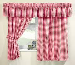 Red Kitchen Curtain Sets Malvern Red Kitchen Curtain Set From Net Curtains Direct