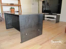 steel furniture images. Raw Steel Furniture. Custom Finish Bent Plate Table With Integrated Shelf Furniture Images