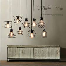 fascinating cage lamp shade image is loading new vintage ceiling light pendant lamp fixture black cage