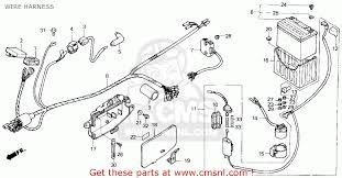 honda trx200sx fourtrax 200sx 1986 (g) usa wire harness 1991 Honda Fourtrax 300 Wiring Diagram wire harness schematic 1991 honda fourtrax 300 wiring diagram