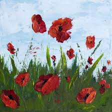how to paint poppy flowers with acrylic paint and a palette knife simple step by step tutorial