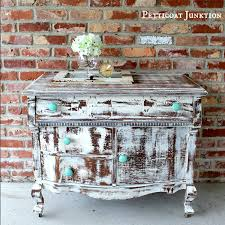 shabby chic distressed furniture. Shabby-chic-heavily-distressed-vintage-dresser-with-turquoise- Shabby Chic Distressed Furniture S