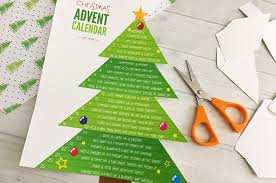 Printable Christmas Tree Craft Create Cook Printable Christmas Tree Advent Calendar