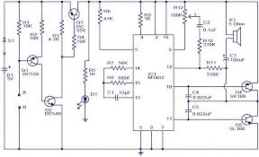 liquid or water sensor circuit alarm water activated musical bell circuit