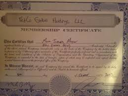 Best Ideas Of Llc Membership Certificate Sample For How To Fill Out
