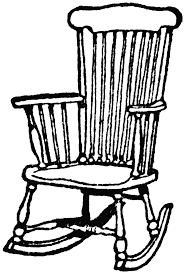 chairs clipart black and white.  Black Wooden Rocking Chair  ClipArt ETC In Chairs Clipart Black And White P