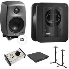Genelec 8010 Deluxe Studio Monitor and Subwoofer Kit with